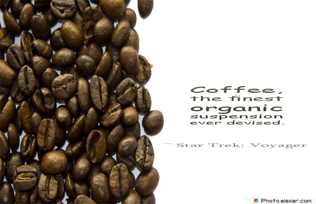 Quotes About Coffee , Coffee Quotes , Coffee, the finest organic