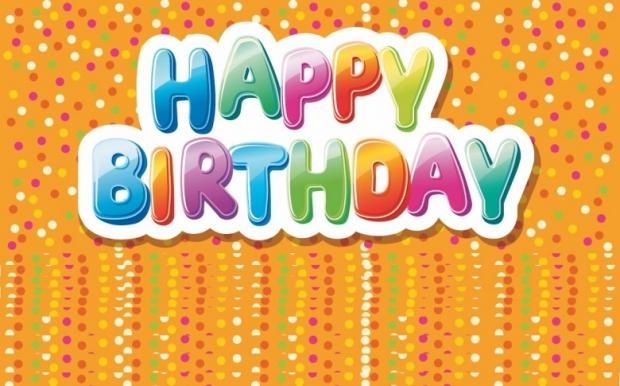 Colorful happy birthday texts