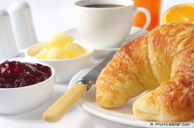Croissants With Strawberry Jam