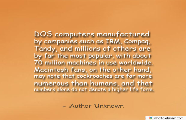 DOS , Computers Quotes , Quotes About Computers , Saying Images