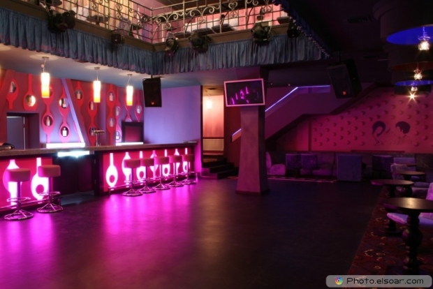 Dance club interior