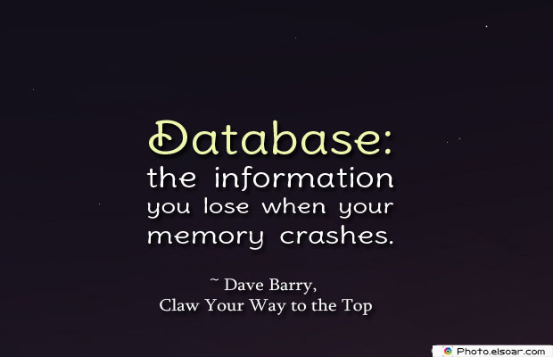 Database the information