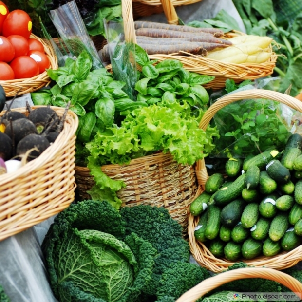 Different Vegetables On Market Table