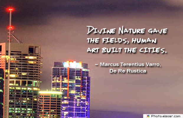 Divine Nature gave the fields