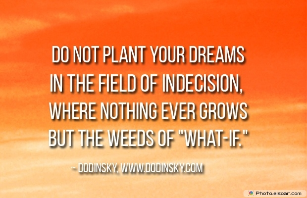 Quotes About Decisions, Quotations, Dodinsky, Dream