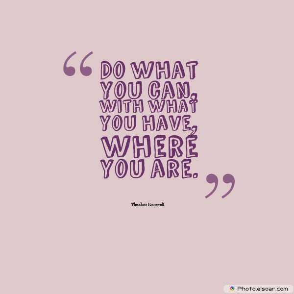 Quotations , Sayings , Do what you can, with what you have