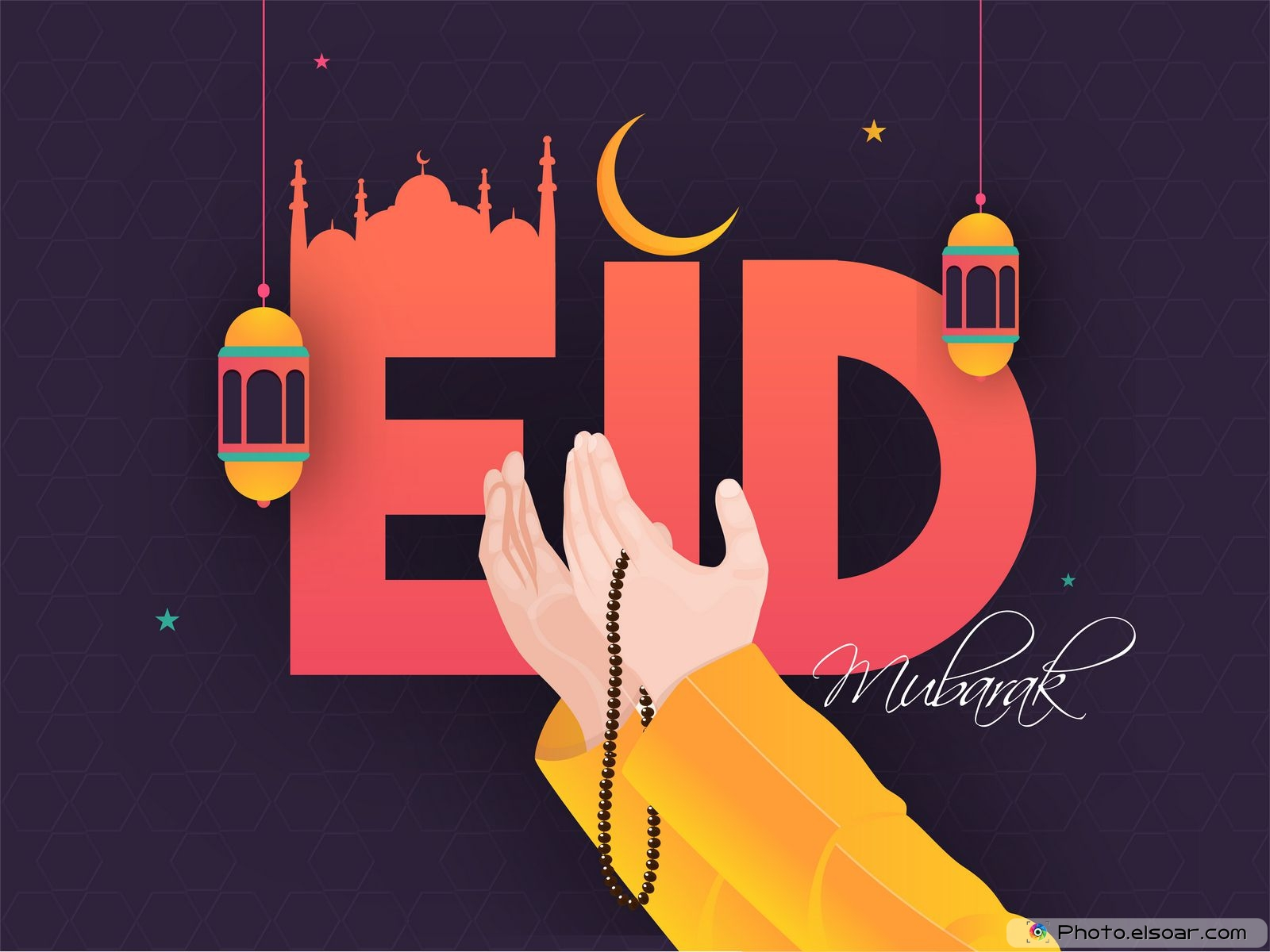 eid alfitr wishes greetings with images 2020 • elsoar