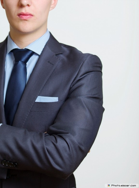 Elegant young businessman in a suit and tie