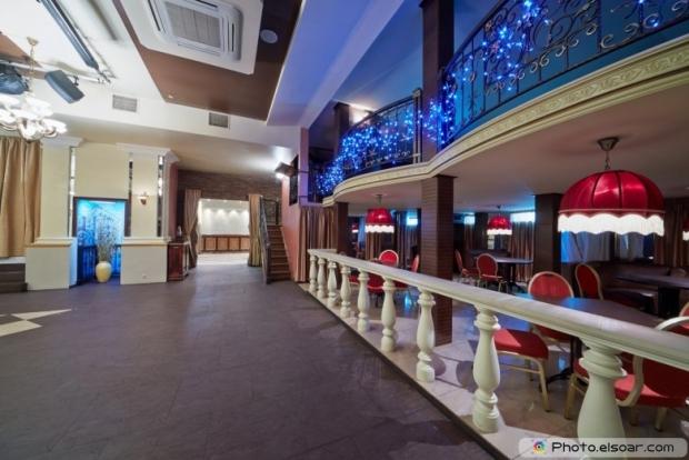 Empty hall in restaurant