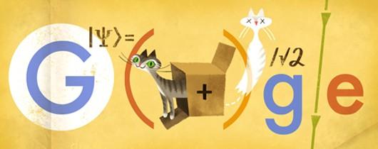 Erwin Schrödinger's 126th Birthday Google Doodle