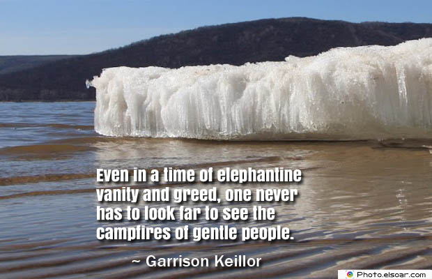 Even in a time of elephantine