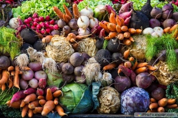 Farmers Market In Colmar, France