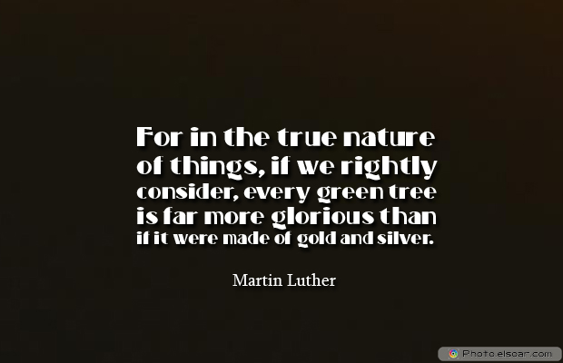 Short Strong Quotes , For in the true nature of things
