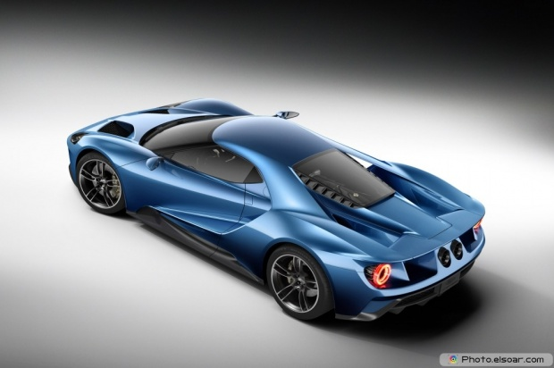 Ford GT Rear Three Quarters From Above