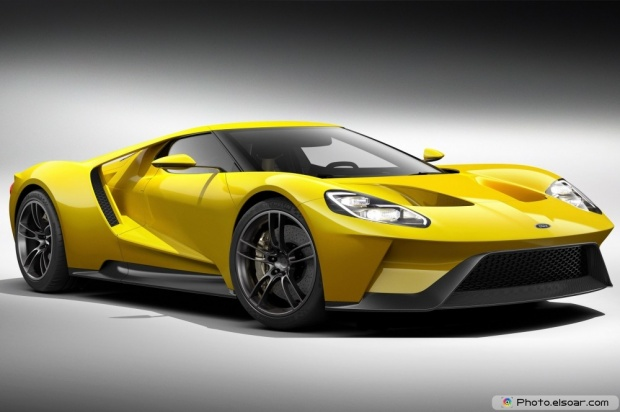 Ford GT Yellow Front Three Quarters