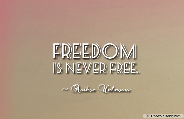 Armed Forces Day , Freedom is never free