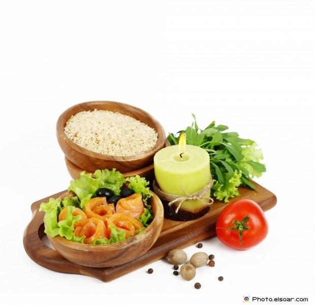 Fresh Healthy Food On Wooden