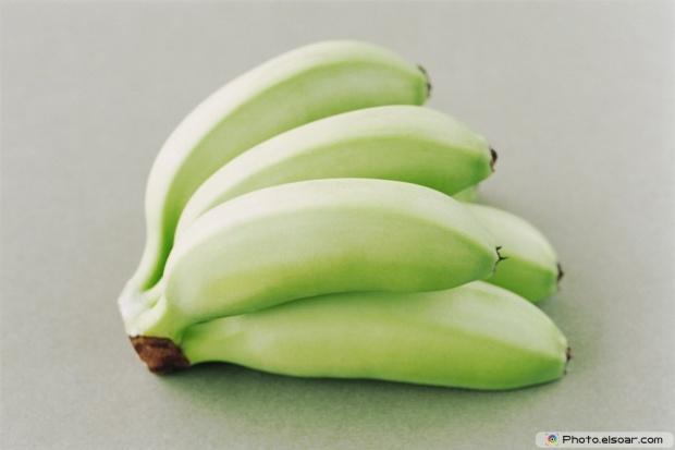 Fresh Healthy Green Bananas