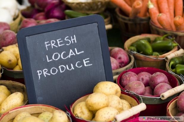 Fresh Produce On Sale At Farmers Market