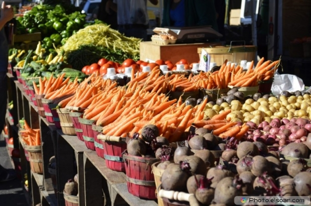Fresh Vegetables For Sale At A Local Market