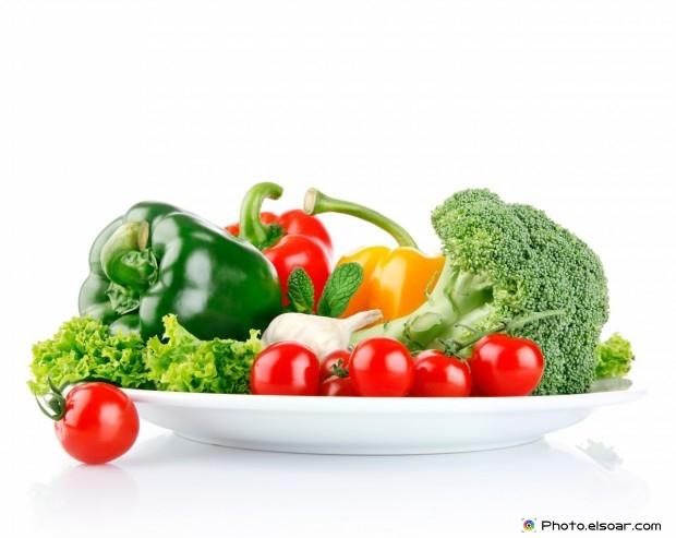 Fresh Vegetables On White Dish