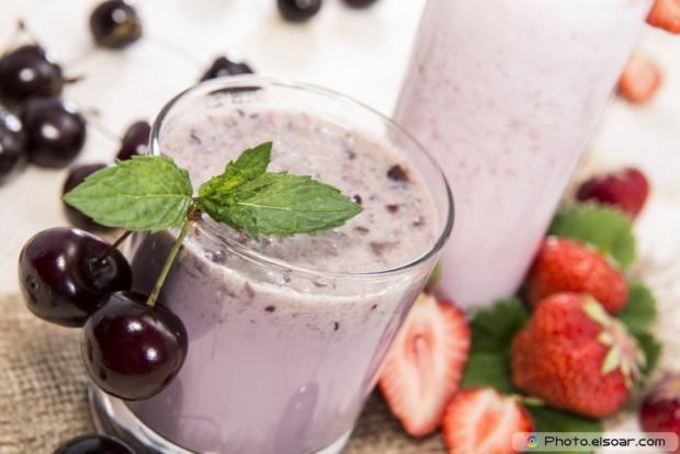 Fresh made Milkshakes (Strawberry and Cherry)