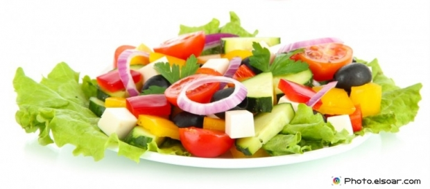 Fresh salad in a dish