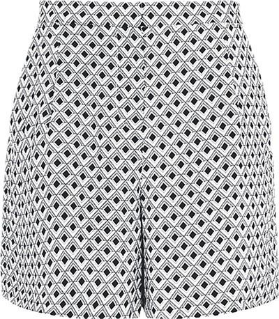 Geo print silk shorts