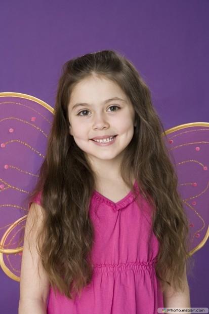 Girl Wearing Wings