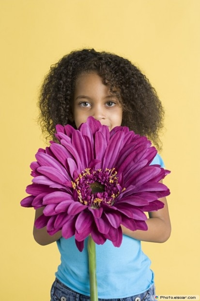 Girl With A Big Flower