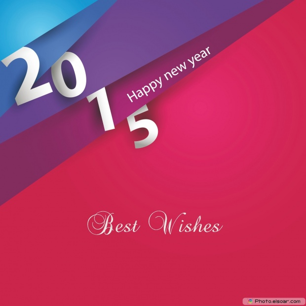 Greeting Card For New Year 2015