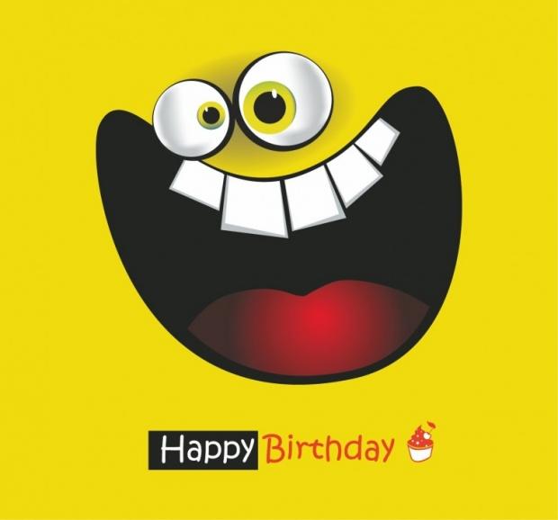 Happy Birthday Card big smile