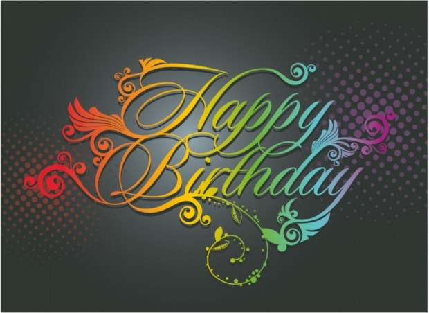 Happy Birthday greeting abstract card