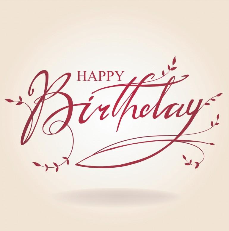 Happy Birthday shiny card