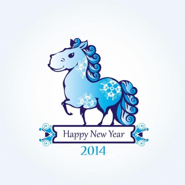 Happy New Year 2014 Horse