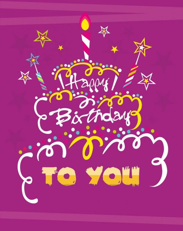 Happy birthday cake card design
