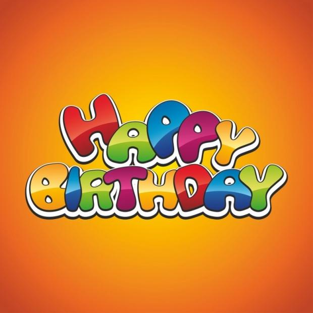Happy birthday cheerful decoration