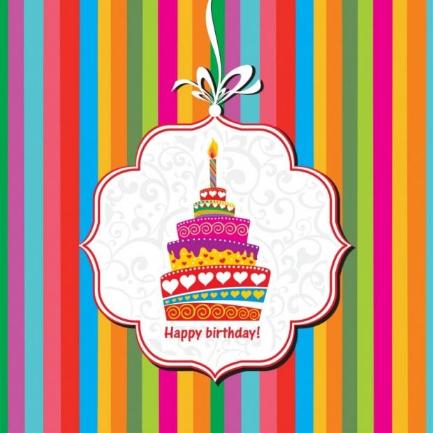 Happy birthday free card. Birthday cake