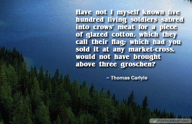 Flag Day , Have not I myself known five hundred living soldiers
