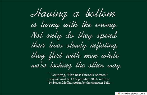 Women's Greetings , Having a bottom is living with the enemy
