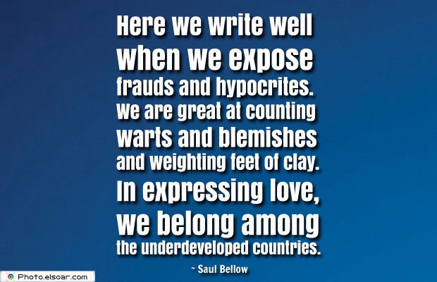 Quotes About America , America Quotes , Here we write well when we expose