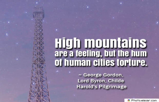 High mountains are a feeling, but the hum