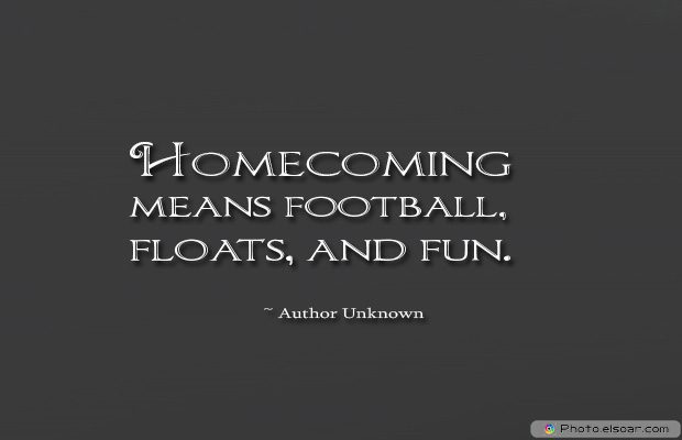 Homecoming means football