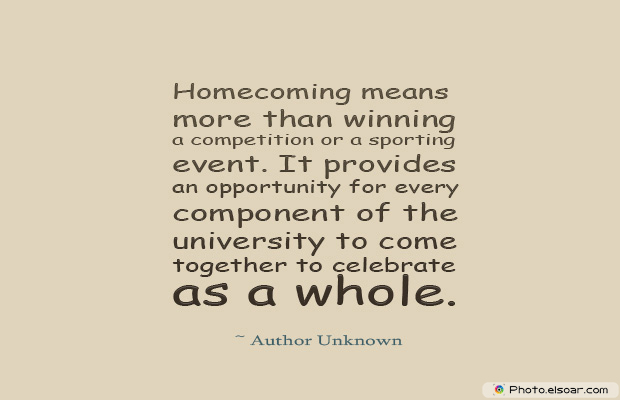 Homecoming means more than winning a competition
