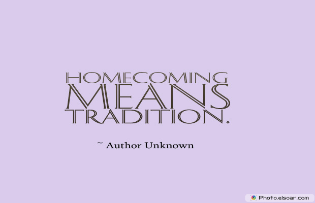 Homecoming means tradition