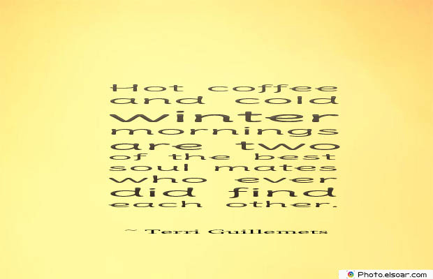 Quotes About Coffee , Coffee Quotes , Hot coffee and cold winter