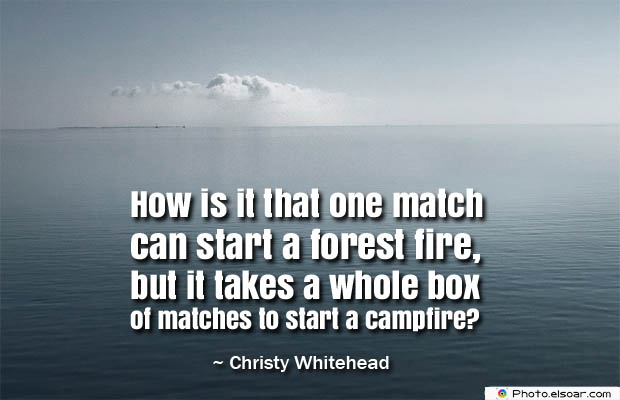 How is it that one match