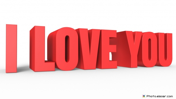 I Love You 3D Image For Lovers