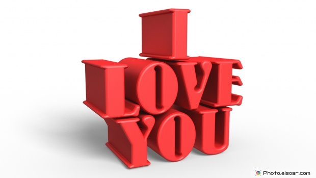 I Love You Lovely Image with 3D text