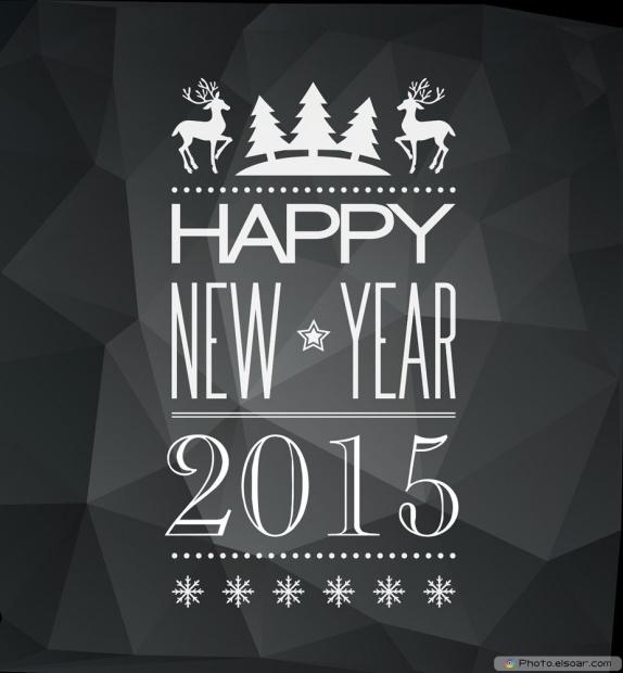 I Wish You Happy New Year 2015 - Classic Image